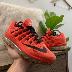 Nike Air Max 2016 Bright Crimson Black Shoes